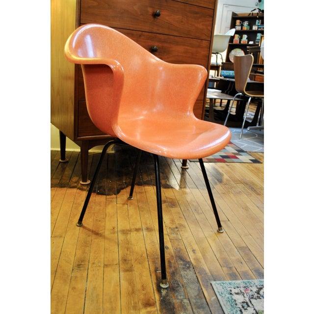 Fiberglass Mid Century Modern Fiberglass Shell Armchair by Cole Steel Co.-1950's For Sale - Image 7 of 7