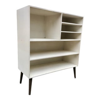 Vintage Media Cabinet Bar Unit Lp Record Storage