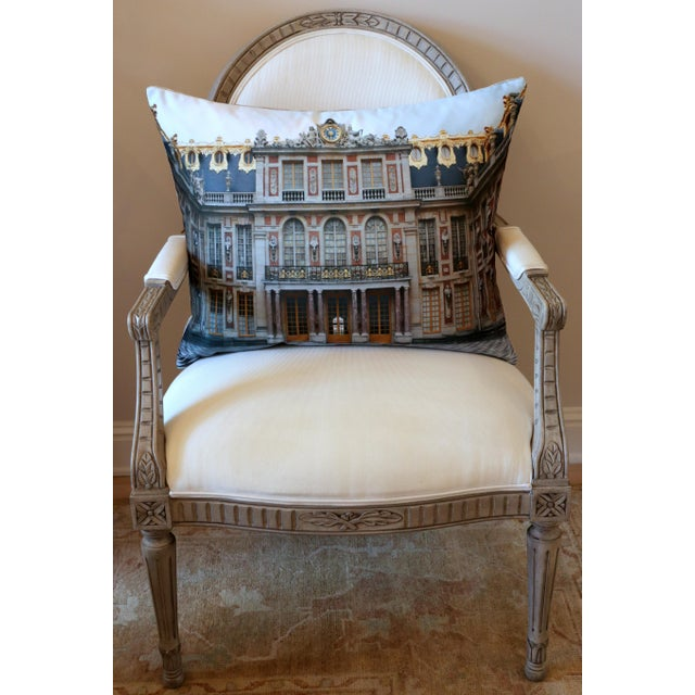 2020s Versailles Rear Courtyard Photo Pillow For Sale - Image 5 of 12