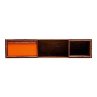 Mid-Century Modern Medium Wall Unit Orange For Sale