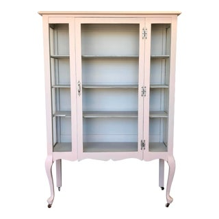 1930's French Provincial Curio Cabinet For Sale