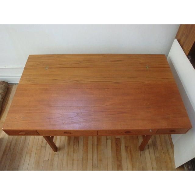 Dansk Lovig Flip-Top Teak Partners Desk or Table For Sale - Image 5 of 10