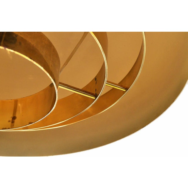 Brass Brass Pendant Lamp by Vereinigte Werkstatten Munchen, 1960s For Sale - Image 7 of 10