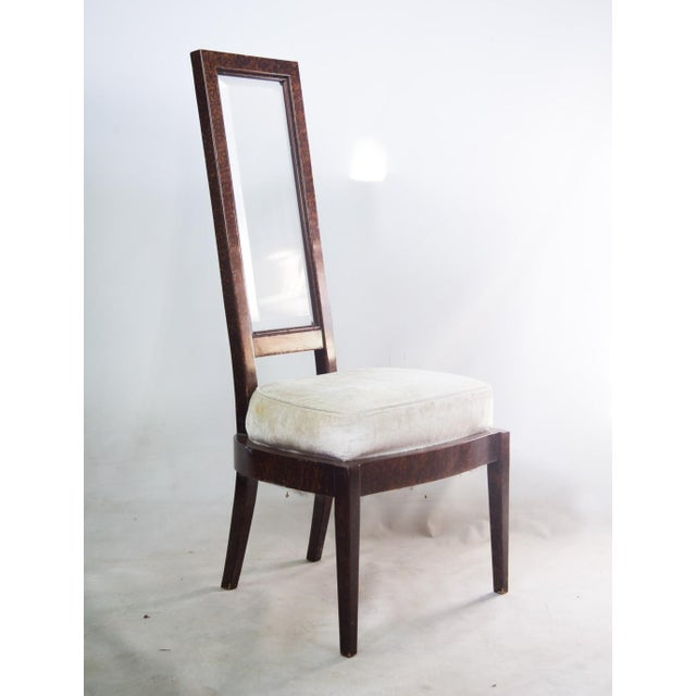 Lucite and Birdseye Maple Veneer Mid-Century Modern Dining Chairs - Set of 8 - Image 10 of 11