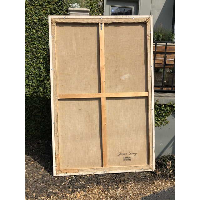 Large Jacques Lamy Urn Painting For Sale - Image 10 of 13