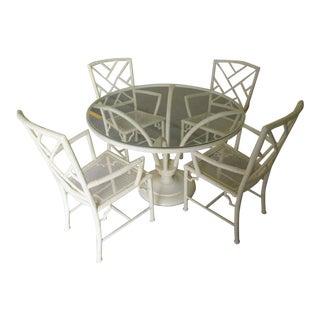 Chippendale Meadowcraft Aluminum Patio Set - 5 Pieces For Sale