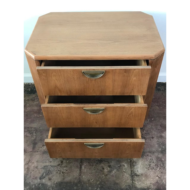 Campaign 1960s Campaign Style Oak Nightstand For Sale - Image 3 of 6