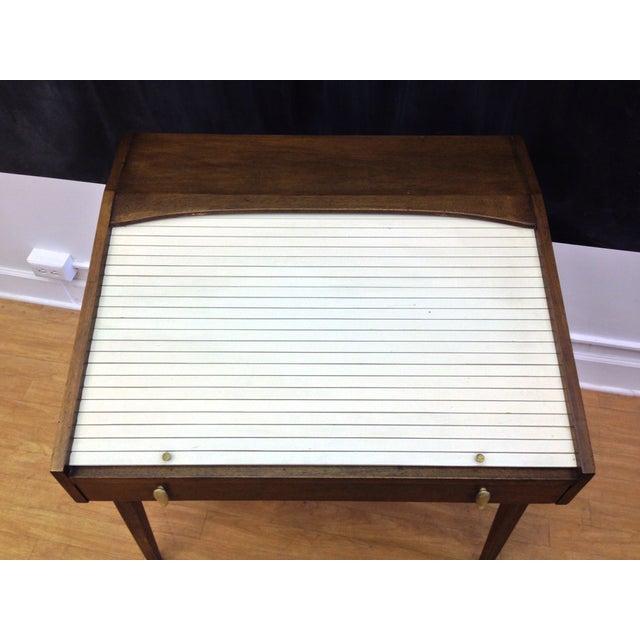 Drexel John Van Koert Roll Top Desk & Chair - Image 5 of 9