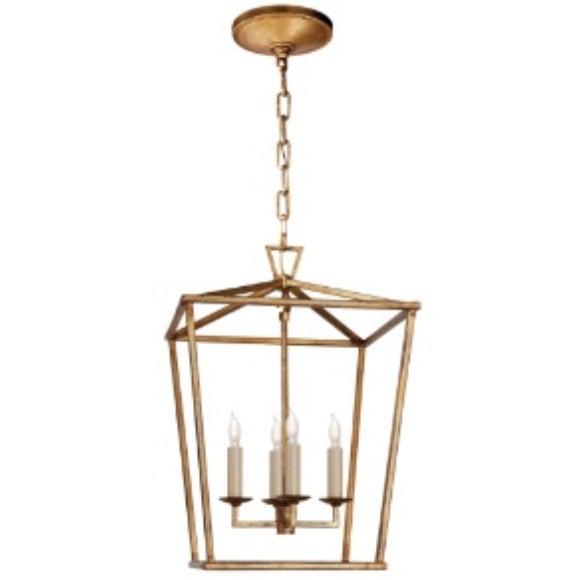 Circa Darlana Small lantern in Gilded Iron (Gold). A beautiful lighting element!
