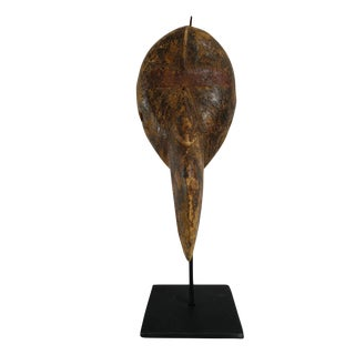 Baga Bird Mask on Stand For Sale