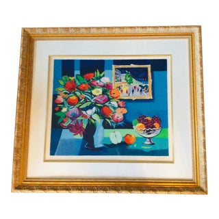 "Late 20th Century French Post Impressionist Serigraph ""Fleurs a La Coupe De Fruits 1995"" by Jean-Claude Picot For Sale"