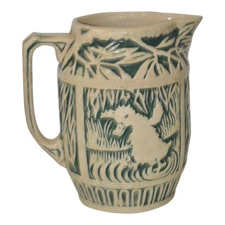 "C.1920 Weller ""Zona"" Stoneware Pitcher For Sale"