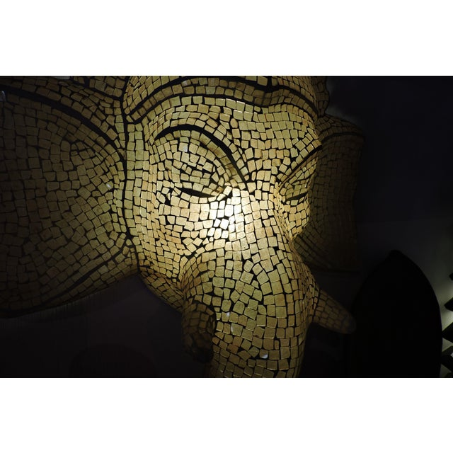 None Mosaic Inlaid Glass Ganesh Lamp For Sale - Image 4 of 5