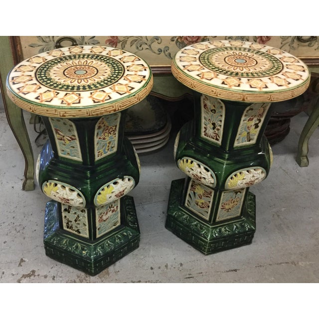 Vintage Chinese Garden Stools - A Pair - Image 3 of 3