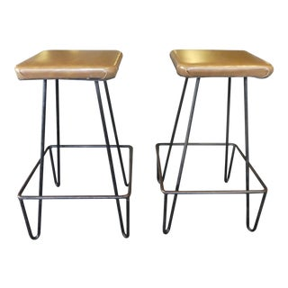 Mid Century Modern Frederick Weinberg Atomic Counter Stools - a Pair For Sale