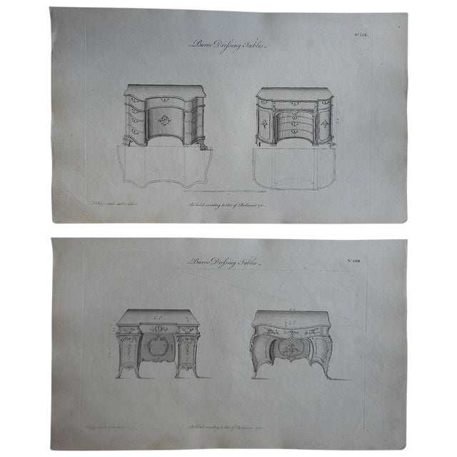 18th-Century Chippendale Furniture Engravings - Image 1 of 3