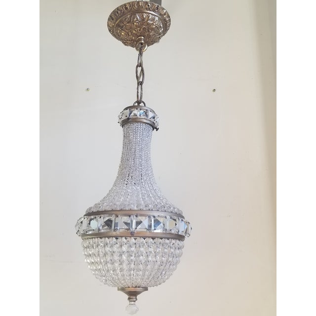 Antique French Empire Style Crystal Chandelier For Sale - Image 10 of 10