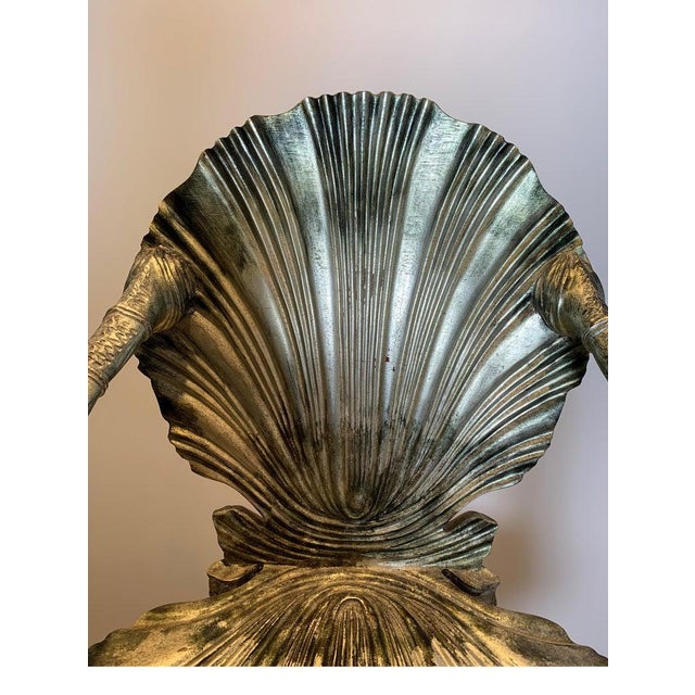 Early 20th Century Antique Silver Leaf Grotto Chairs- A Pair For Sale - Image 9 of 13