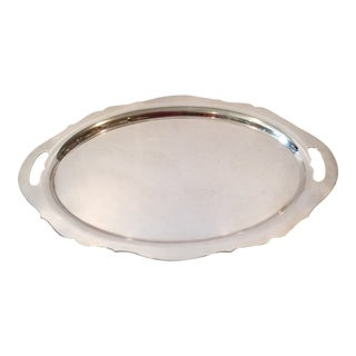 Sterling Silver Serving Tray For Sale