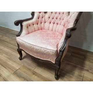 1960s Vintage Victorian Bergere Pink Chair Preview
