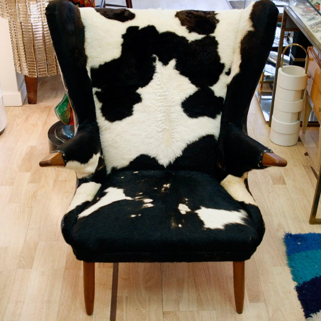 Mid-Century Modern Svend Skipper Wingback Chair For Sale - Image 3 of 5