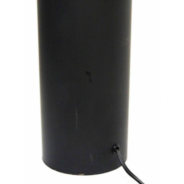 Black & Chrome Cylinder Table Lamp - Image 7 of 7
