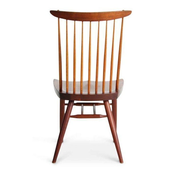 "Walnut George Nakashima ""New"" Chairs, Set of Eight, Authenticated 1960s Production For Sale - Image 7 of 13"