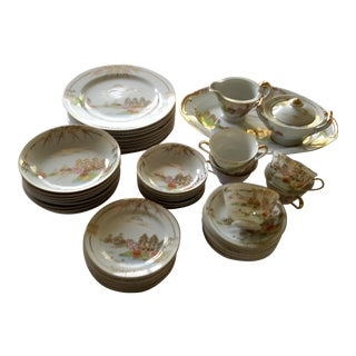 Kutani Meijyo China Dinnerware- 48-Piece Set For Sale