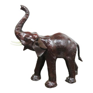 Leather Elephant Statue