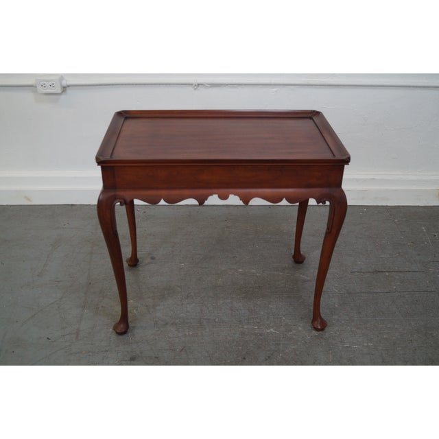 Henkel Harris Solid Cherry Queen Anne Tea Table - Image 2 of 10