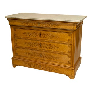 French Charles X Maple Chest For Sale