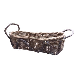 Contemporary Artisanal Basket For Sale