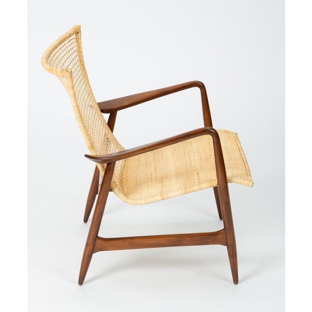 Lounge Chair With Cane Seat by Ib Kofod-Larsen for Selig For Sale - Image 9 of 13