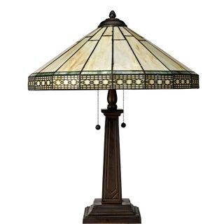 Mid-Century Reproduction Tiffany Style Table Lamp For Sale