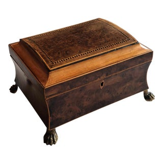 Regency Burr Yew Table Box For Sale