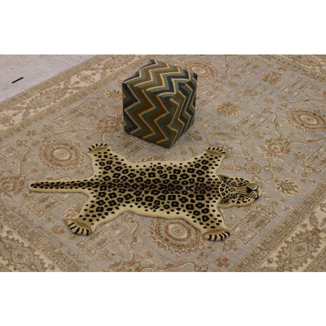 Contemporary Decorate Wild Animal Design Handcuffed Area Rug- 3′ × 5′ For Sale In New York - Image 6 of 11