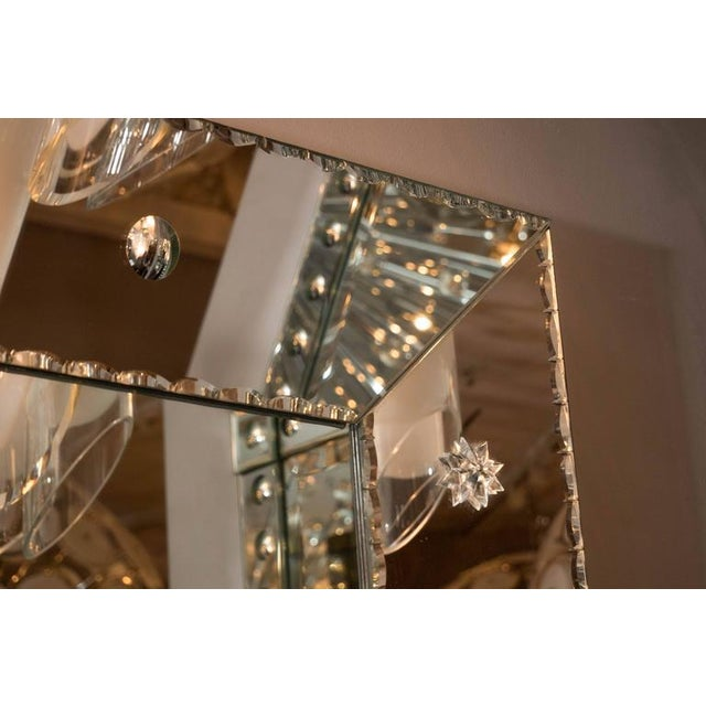 Venfield Custom Pie Crust Mirror with Ponti's For Sale - Image 4 of 10