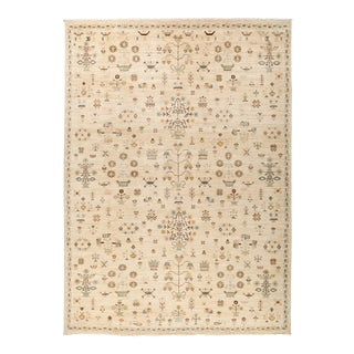 "Eclectic Collection Hand Knotted Area Rug - 8' 10"" X 12' 3"" For Sale"