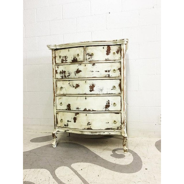 Shabby Chic Dresser in Distressed White - Image 5 of 6