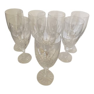 1950s Crystal Water Glasses - Set of 8 For Sale