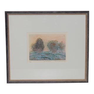 Soichi Hasegawa (Japanese, B.1929) Etching W/ Aquatint For Sale
