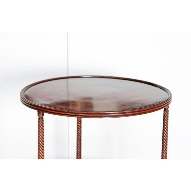Late 18th Century George III Tiered Dessert Table of Mahogany For Sale - Image 10 of 12