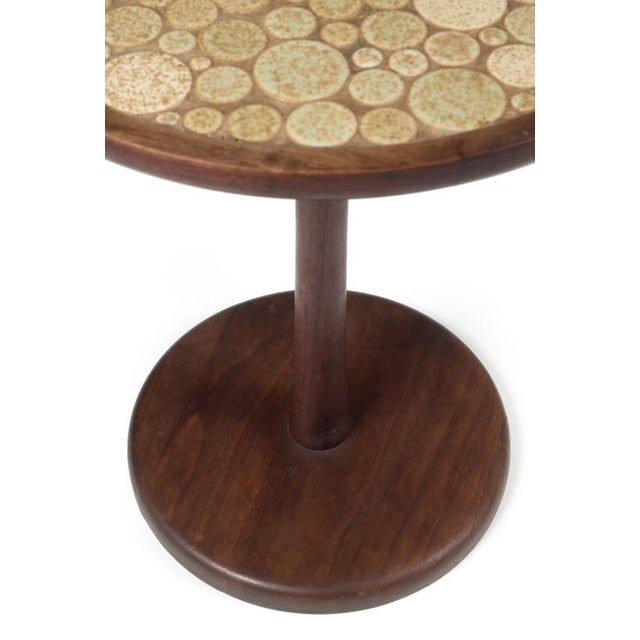 Gordon Martz Gordon Martz Oatmeal Tile Top Pedestal Table For Sale - Image 4 of 5