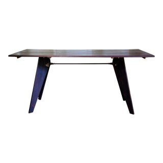 Artisan Made Jean Prouve Style Solvay Em Dining Utility Table For Sale