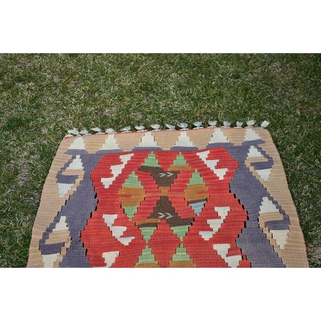 Turkish Traditional Handwoven Anatolian Nomadic Rustic Style Oushak Kilim Rug For Sale - Image 9 of 13