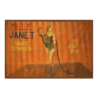 1920s Vintage Circus Banner For Sale
