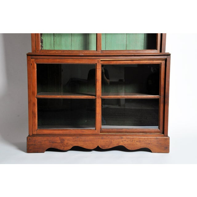 Green 1950s British Colonial Bookcase For Sale - Image 8 of 13