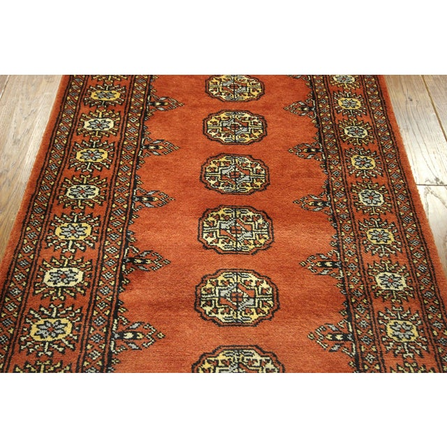 "Bokhara Orange Hand Made Wool Rug - 2'6"" x 16'1"" - Image 5 of 8"