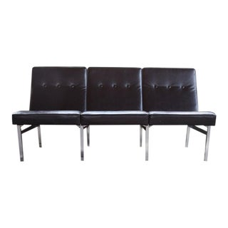 1960s Vintage Florence Knoll Style Parallel Bar Settee For Sale