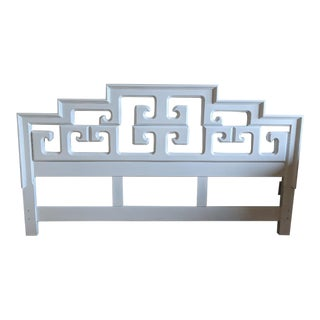 20th Century Chinoiserie Century Furniture King Size Headboard For Sale